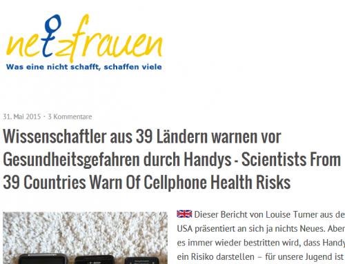 Wissenschaftler aus 39 Nationen warnen vor Elektrosmog