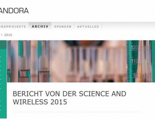 Bericht von der Science and Wireless zu Hochfrequenzstrahlung (Elektrosmog)