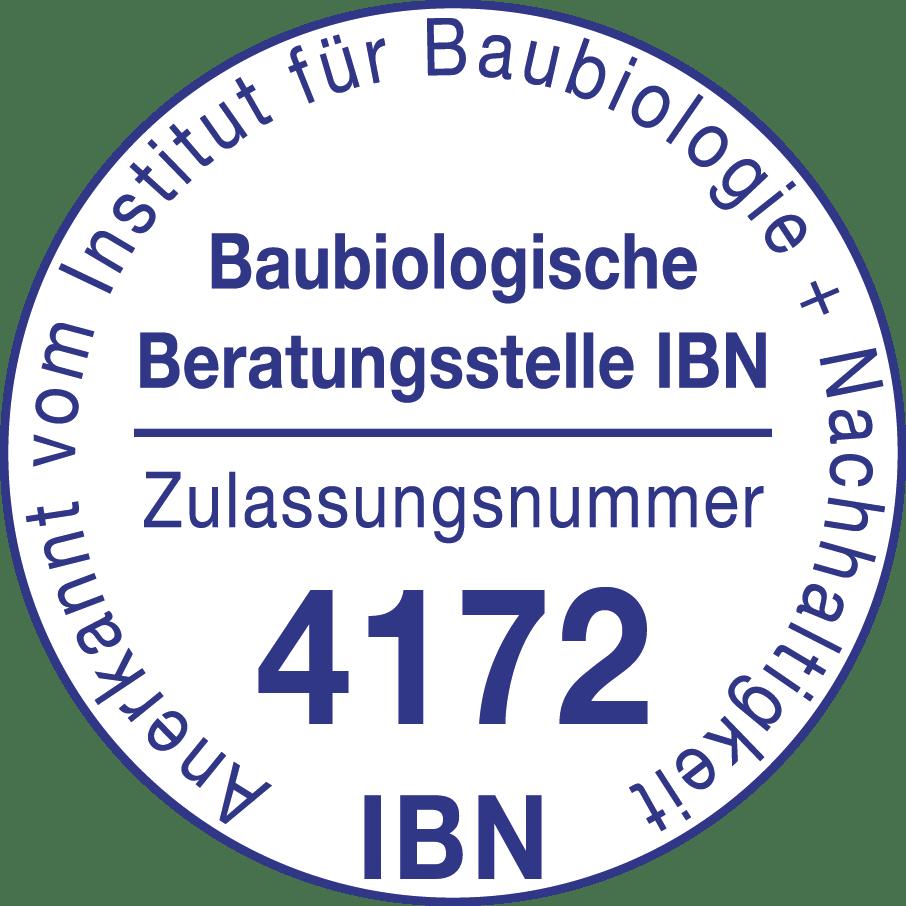 Anerkannt vom Institut für Baubiologie + Nachhaltigkeit - IBN